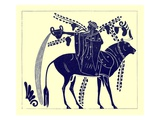 Dionysus Riding a Bull  Illustration from 'Greek Vase Paintings'