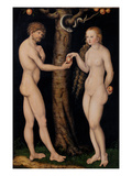 Adam and Eve in the Garden of Eden  C1520-25 (Oil on Wood)