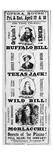 Poster for the 'Scouts of the Plains' Play  Starring Buffalo Bill (1846-1917) Texas Jack (1846-79)
