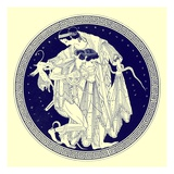 Peleus and Thetis  Illustration from 'Greek Vase Paintings' by J E Harrison and D S Maccoll
