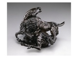 Lion Attacking Horse C1580/90 (Bronze)