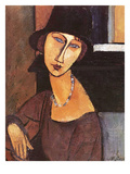 Jeanne Hebuterne Wearing a Hat  1917 (Oil on Canvas)