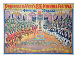 Poster Featuring 'Primrose and West's Big Minstrel Festival  C1880 (Colour Litho)