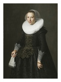 Portrait of a Lady  C1630 (Oil on Oak Panel)