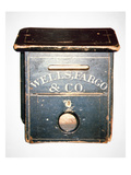 Original Wells Fargo and Co Letter Box of the Old West  C1880 (Wood)