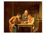 The Checker Players  1850 (Oil on Canvas)