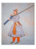 Officer of the Mughal Army  C1585 (Colour Litho)