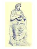 Juno Nursing the Infant Hercules  Statue in the Vatican  Illustration from 'History of Rome'