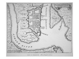 Town and Harbour of Charles Town (Charleston)  South Carolina (Lithograph)