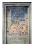 The Fireworks in Piazza Della Signoria  C1560 (Fresco)