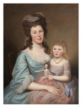 Peggy Sanderson Hughes and Her Daughter  c1788-89
