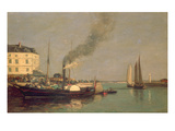 Honfleur La Jetee  1854-57 (Oil on Panel)