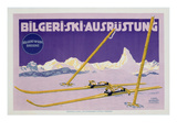 Advertisement for Skiing in Austria  C1912 (Colour Litho)