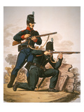 British Riflemen  1813 (Colour Litho)