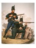 British Riflemen  1813 (Colour Litho)