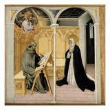 St Catherine of Siena Dictating Her Dialogues  C1447-61 (Tempera on Panel)