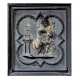 St Augustine  Panel H of the North Doors of the Baptistery of San Giovanni  1403-24 (Bronze)