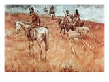 Sioux Indians on the Move (Oil on Canvas)