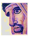 Head in Mosaic  from 'The Battle of Issus'  Illustration from 'Historic Ornament' by James Ward