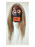 Iroquois Mask (Wood and Hair)