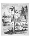 The First Dutch Settlement on Manhattan Island in 1623 (Litho)