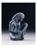 Seated Scribe  New Kingdom  1391-1353 BC (Greywacke)