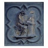 St Jerome  Panel F of the North Doors of the Baptistery of San Giovanni  1403-24 (Bronze)