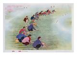 Spring Scything  1974 (Colour Litho)