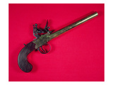 Brass-Barrelled Sea Service Boarding Pistol  Flintlock  C1750 (Wood and Metal)