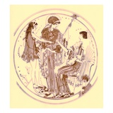 Theseus and Amphitrite  Illustration from 'Greek Vase Paintings'