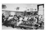 History Class at the Negro Industrial Institute at Tuskegee  Alabama  1902 (B/W Photo)
