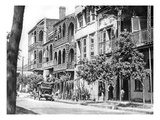 Street of Balconies in the Vieux Carre  New Orleans  1925 (B/W Photo)