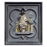 St Gregory  Panel G of the North Doors of the Baptistery of San Giovanni  1403-24 (Bronze)