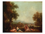 Classical Figures in an Italian Landscape
