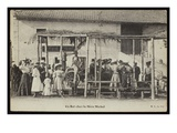 Postcard Depicting a Dance at Mere Michel&#39;s  Le Puy  C1900 (B/W Photo)