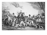 Battle of Princeton  3 January 1777 (Litho)