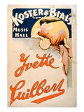 Yvette Guilbert (C1869-1944) at Koster and Bial's Music Hall  New York (Colour Litho)