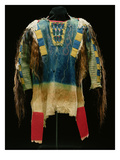 Man's Shirt  Cheyenne  C1860 (Buckskin  Wool  Ermine Skin and Human Hair)