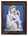 Madonna and Child  1445-50 (Enamelled Terracotta)