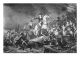 George Washington Directing the Retreat from Brooklyn Heights  29 August 1776 (Litho)