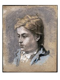 Portrait of a Young Man  C1856 (Pastel on Paper)