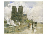 Notre Dame Cathedral  Paris  1888 (Oil on Canvas)