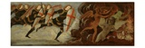St Michael and the Angels at War with the Devil (Tempera on Wood Panel)