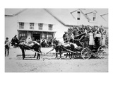 Fully-Loaded Stagecoach of the Old West  C1885 (B/W Photograph)