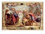 Briseis Given Back to Achilles  1630/1631 (Oil on Panel)