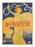 Poster Advertising 'strega' Liquer  1906 (Colour Litho)