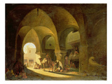 Numerous Figures in a North African Bazaar  1839