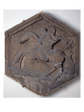 The Art of Hunting  Hexagonal Decorative Relief Tile