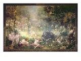 The Joys of Life: Flowers  Women  Music (Mural)