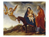 The Flight into Egypt  C1648/50 (Oil on Canvas)